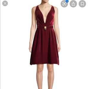 Oscar de la Renta Evening Dress Crimson Red Velvet